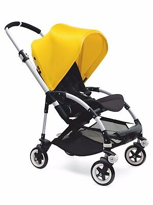 NEW Bugaboo Bee3 Bee+ Bee5 Bright Yellow Extendable Sun Canopy Hood Fabric