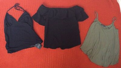 Maternity Top Bundle Size 10 Topshop and Boohoo