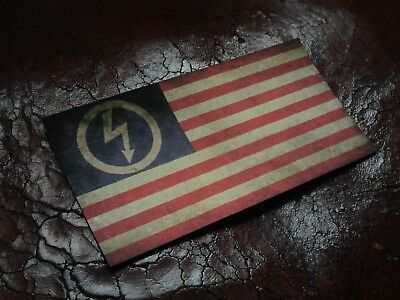 Marilyn Manson AntiChrist SUPERSTAR Flag STICKER Drapeau logo american flag rock