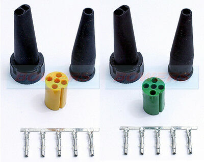 Aspock Green And Yellow 5 Pin Rear Light Connector Plugs Ifor Williams Trailers