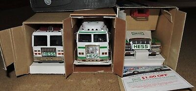 Lot of New 3 Hess Toy Trucks 1994 1999 2000 ORIGINAL BOXES