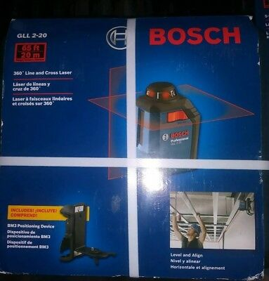 NEW BOSCH 360 Degree Line And Cross Laser GLL 2-20 S BRAND NEW