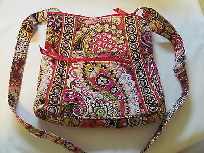 Vera Bradley Cross Body Pink Lime Green And Burgendy Bag
