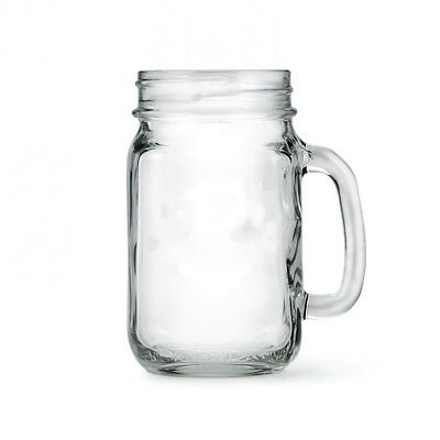 Mason Jar Drinking Glasses Solid Glass Premium 4 Mugs