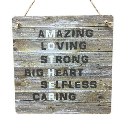 Mother Father Gift Mum Dad Daddy Rustic Wooden MDF Parents Sign Meaning Plaque