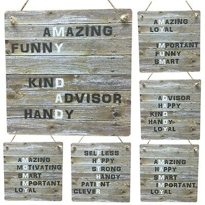 Mother Father Rustic Gifts Meaning Mother Mum Dad Daddy Wooden Sign Plaque Gift