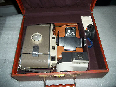 Vintage Polaroid Land Cameras Model SX-70 and The 800 with Case/Accessories