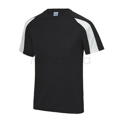 AWDis Just Cool Mens Womens Contrast Sports Gym Cool Tee T-Shirt