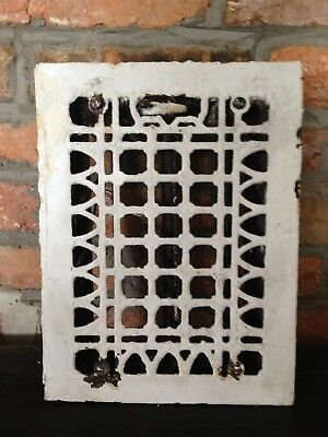 Vintage Antique Cast Iron Heat Grate Floor Vent Register 9x12