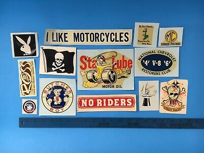 VINTAGE LOT OF 13 Early 1970's Retro Decals