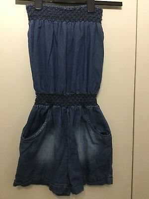 Candy Couture Denim Blue Play suit Age 12-13