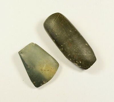Prehistoric Polished Stone AXE Head - small size - LOT OF 2