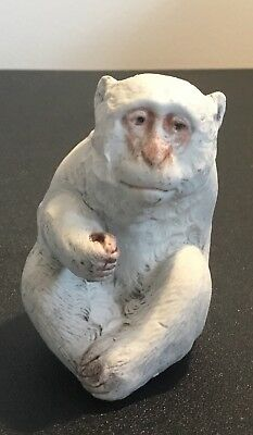 Antique Japanese figure of a SNOW MONKEY