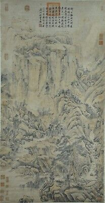 Excellent Hand Painted China Chinese Watercolor Scroll Painting Scholar Art