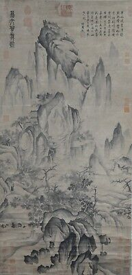 Wonderful Hand Painted China Chinese Water Ink Scroll Painting Scholar Art