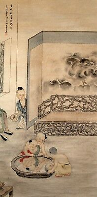 Superb Hand Painted China Chinese Watercolor Painting Scroll Scholar Art