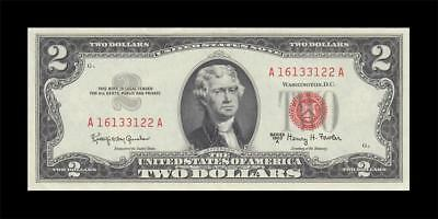 1963-A UNITED STATES NOTE TWO DOLLARS $2 (( aUNC ))