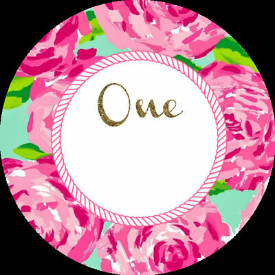 """Personalized 2"""" toppers to match your invite for stickers, etc- DIY Dig File"""