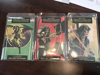 Mike Grell Green Arrow The Longbow Hunters 1-3 Complete Prestige (DC, 1987) NM