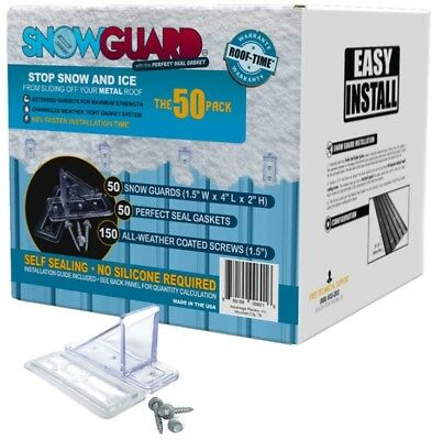 NEW Mini Snow Guard Stop Ice Buildup Seal Gasket Metal Roof Mounting MSRP $130!