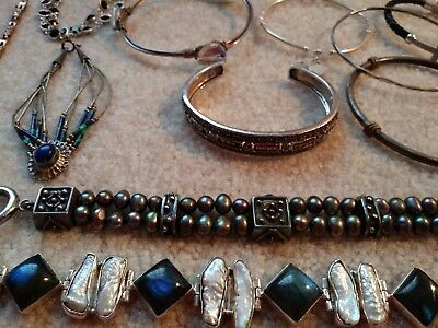 Huge Bracelet lot - All Sterling Silver - 192 grams - ALL WEARABLE - Not Scrap