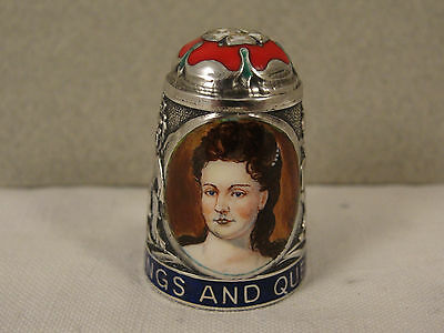 Peter Swingler Silver & Enamel THIMBLE: QUEEN ANNE. Kings & Queens Series