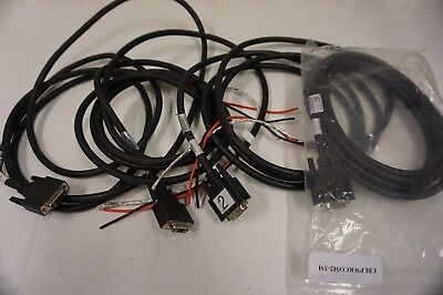 LOT of 4 MOOG ANIMATICS POWER & COMMUNICATIONS CABLE for MAIN 7W2 CONNECTOR