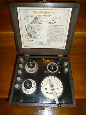 Récepteur Westinghouse  Aeriola Sr. Receiver ( Radio, TSF, lampes, collection)