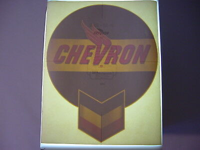 "Vintage NOS Original Chevron Logo Gasoline Pump 12"" Water Transfer Decal Sign"