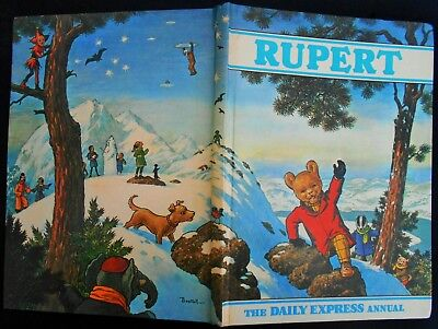 Vintage Original 1971 Rupert Bear Annual, Price Unclipped 7/6