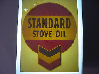 Vintage NOS Original Standard Stove Oil Gasoline Pump Water Transfer Decal Sign