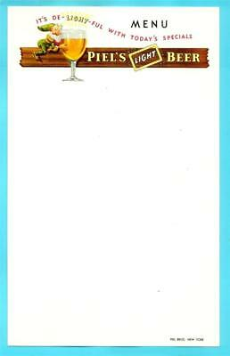 Brooklyn, NY - Piel's Beer Happy Elf Menu Sheet #4 - 1940s era NOS