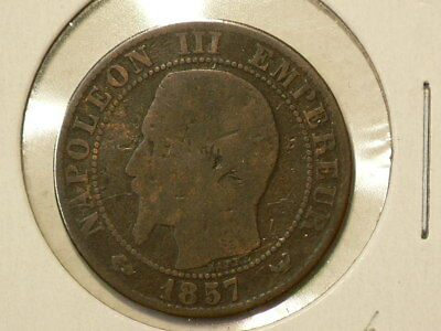 France 1857 W 5 Centimes Lille KM#777.7  Napoleon III #G9296