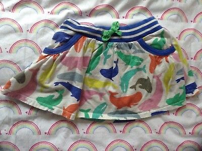 Mini Boden rainbow WHALE skirt 5-6y girls Spring summer cruise vacation POCKETS