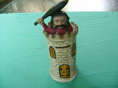 """KING of the CASTLE"" ANTIQUE CAST-IRON ""MONEY BOX""good shape and condition"