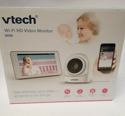 "VTech VM981 Wireless WiFi Video Baby Monitor with Remote Access App, 5"" Touch"