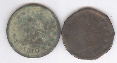 Lot of 2 - Classic Head Large Cents + 1810 & 1811 + No Reserve!