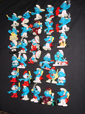 Smurf Like Collection FAKE Smurfs Made In Spain Lot Of 30 Assorted Used RARE