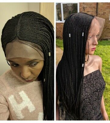 Lace Wig, Full Frontal Lace Box Braids With Cornrow, Handmade Braided Wig