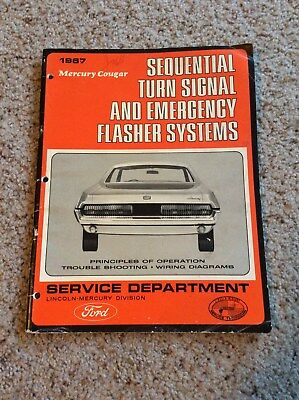 1967 Mercury Cougar service dept. manual for taillights and flasher systems