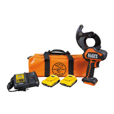 Klein Tools BAT20-G10 Battery-Operated Cu/Al Closed-Jaw Cable Cutter Kit