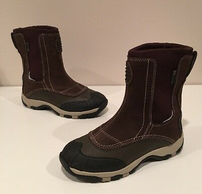 LL Bean Tek 2.5 Womens Slip On Boots Brown Leather Size 7
