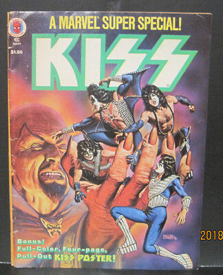 KISS - A Marvel Comic Super Special from 1978 with Poster!