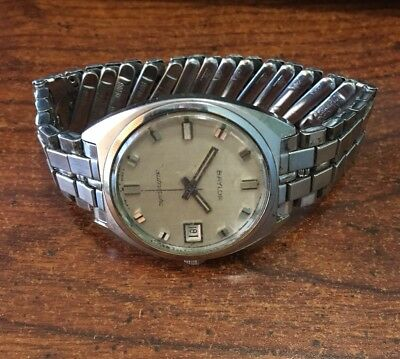 VINTAGE BAYLOR MEN'S AUTOMATIC DAY/DATE WATCH SWISS MADE *For Repair*