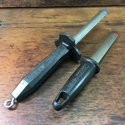 Lot x2 VINTAGE EZE-LAP LAPPING DIAMOND SHARPENER HONING STICKS MADE IN USA