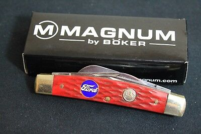 Ford Boker Madnum 4 Blade Pocket Knife Accessory Blue Oval Inlay Truck Bronco GT