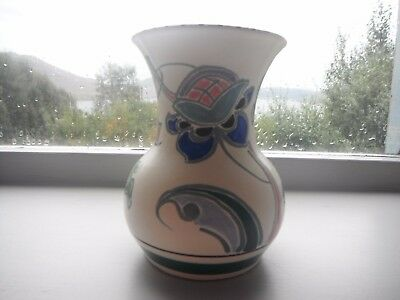 Vintage Signed Art Pottery Vase Honiton Devon Signed L SEATON.