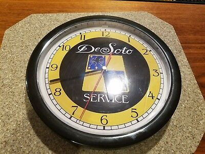 Desoto car advertising service clock battery operated. works!