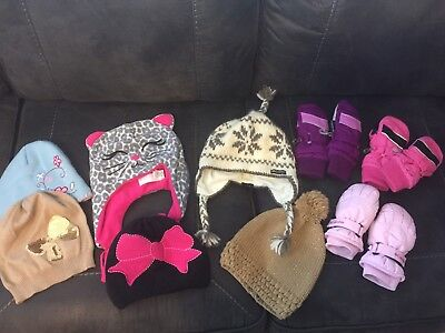 Lot Of Hats And Gloves Toddler Child