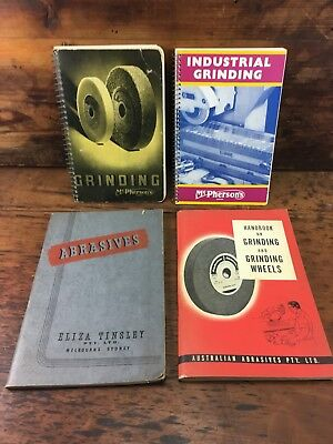 Lot X4 Mcphersons Griding And Abrasives Guide Books Blacksmith Metalwork